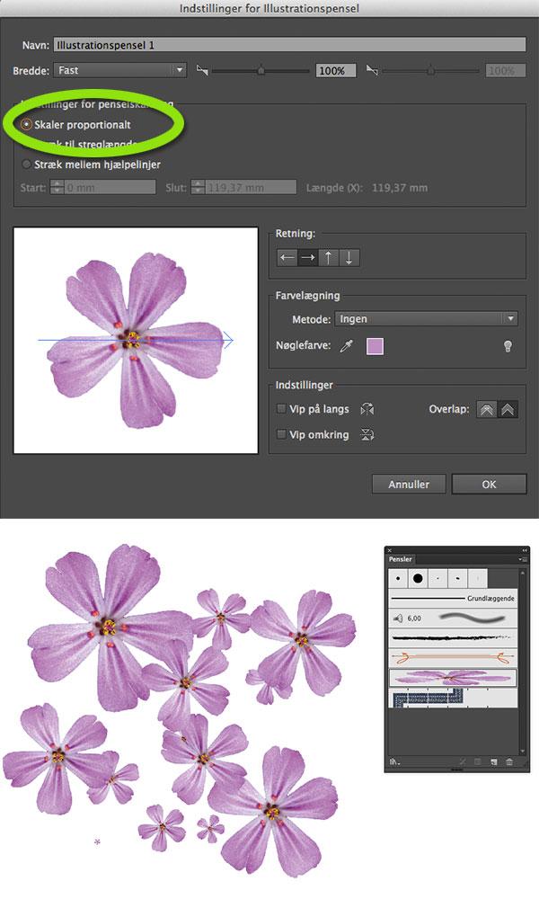 Illustrator artbrush indstilling grafisk blog