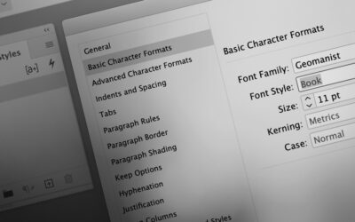 InDesign: Ændre standardfont