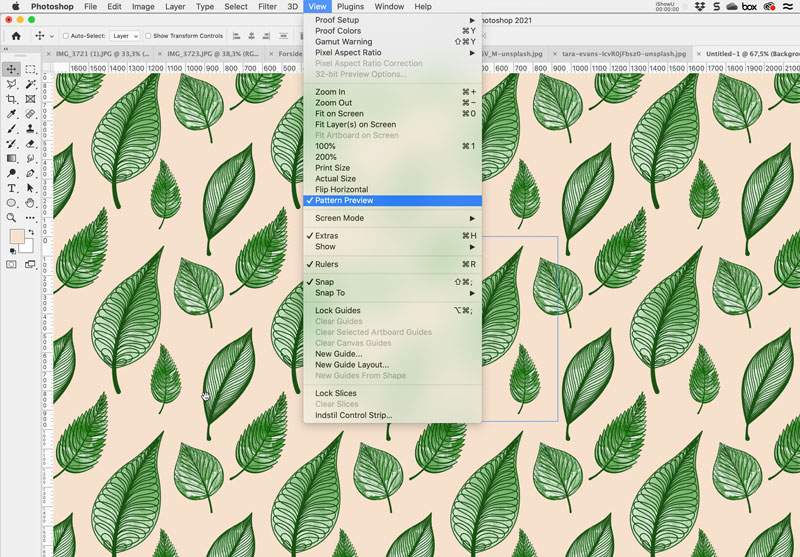 Pattern Preview - Photoshop
